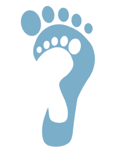 childs foot print icon